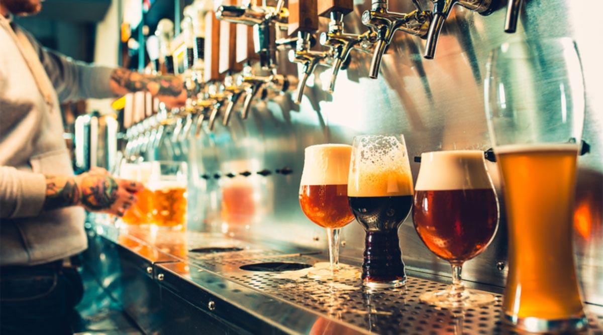 Barra con cervezas - Seguros para bares